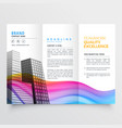 colorful creative trifold business brochure design vector image vector image