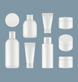 cosmetic tubes makeup plastic packages and round vector image vector image