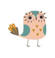 cute funny owlet adorable owl bird vector image vector image