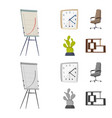 design of furniture and work symbol vector image vector image