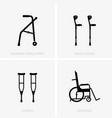 disability assistive devices vector image vector image