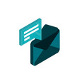 email message social media isometric icon vector image