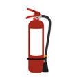 extinguisher firefighter equipment vector image