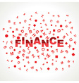 Finance word with in alphabets vector image vector image