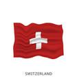 flag switzerland vector image vector image