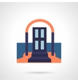 Front door colored flat icon vector image