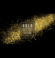 gold glitter cloud or shining particles explosion vector image