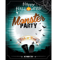Halloween on a Monster Party theme vector image vector image
