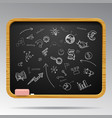 hand drawn business icons on blackboard vector image vector image