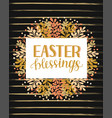 hand lettering with inscription easter blessings vector image vector image