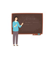 happy young female college teacher university vector image vector image