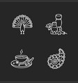 indian culture chalk white icons set on black vector image