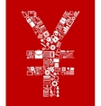 Japan yen currency symbol vector image