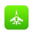 jet fighter plane icon digital green vector image vector image