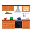 kitchen room isolated furnishing interior vector image vector image