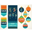 Knitting elements for christmas decoration vector image