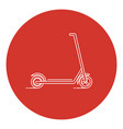 line art style kick scooter icon vector image vector image