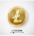 litecoin gold coin realistic crypto vector image vector image