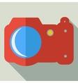Modern flat design concept icon photo camera vector image vector image