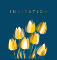 modern graphic yellow tulip flowers vector image vector image