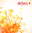 Orange watercolor leaves vector image vector image