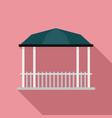 pavilion gazebo icon flat style vector image vector image