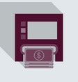 payment through atm withdrawal of money via vector image vector image