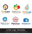 pet logo template vector image