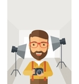 Photographer inside his studio vector image