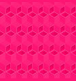 pink cubes pattern seamless background vector image