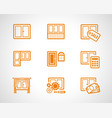 plastic windows scetch icons vector image vector image
