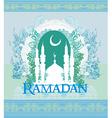 Ramadan background - mosque silhouette card vector image vector image