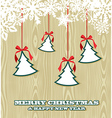 Retro wooden Christmas background vector image