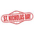 saint nicholas day stamp vector image vector image