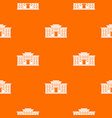 school building pattern seamless vector image vector image