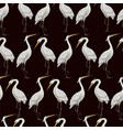 seamless pattern with white herons vector image vector image