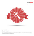 search map pin icon - red ribbon banner vector image