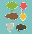 Set of Speech and Thought Bubbles or Balloons vector image