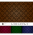set seamless background with damascus ornament vector image vector image