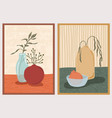 set wall art paintings still life composition vector image vector image