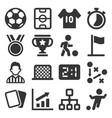 soccer icons set on white background vector image