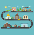 urban landscape in flat design city life vector image