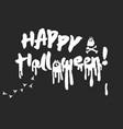 happy halloween calligraphy lettering vector image