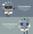 programming and seo optimization vector image