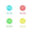 Business geometric logo template set vector image