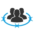 Strict management icon from Business Bicolor Set vector image
