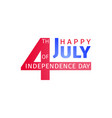 happy usa independence day 4 th july design vector image