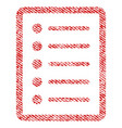 list page fabric textured icon vector image