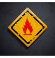 metal sign fire vector image