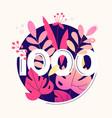 1000 followers banner - modern flat design style vector image vector image